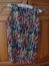 Women's Multicolored Sleeveless Top Size Medium by De'rotchild - $19.99