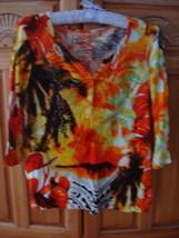Women's Dramatic Print Shirt Size Petite Medium by Onque Petite - $24.99