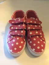 New Lacoste Girl Marcel Chunky Kid Sneaker Velcro Pink Polka Dots 2 Shoes - $46.74