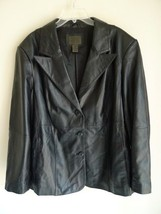 Woman's Plus 3X Leather Jacket Genuine Lamb Sup... - $145.00