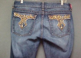 Rare YMI Royalty Twisted Leg, Low Rise Distressed Denim Jeans Womans Siz... - $26.99