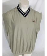 Verizon Wireless Tan Fleece Vest Ultra Club Collection V-Neck Men's XXL - $29.99