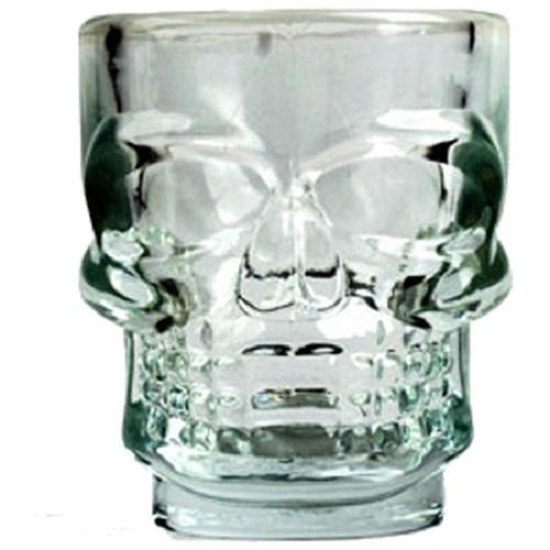 Shot Glasses Halloween Party Drink Fun Spooky Skull Drinking Prop 4 Shots Set