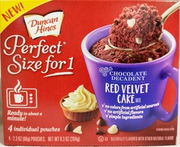 Duncan Hines Red Velvet Mug Cake Mix 4 Individual Pouches 9.3 Oz. Exp 11/20 - $8.86
