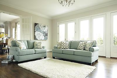 Ashley Daystar Living Room Set 2pcs in Seafoam Upholstery Fabric Contemporary