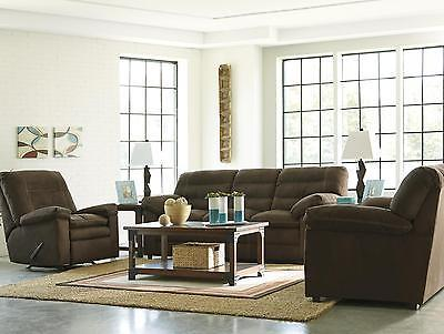 Ashley Talut Living Room Set 3pcs in Cafe Upholstery Fabric Contemporary Style