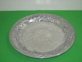 Vintage Wilton Armetale Shiny Aluminum Alloy Metal Tray Platter 3D Detai... - $28.01