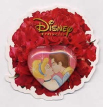 Disney Cinderella and Her Prince in Heart Japan Mickey & Pals Royal Kiss... - $14.69