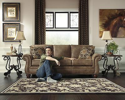 Ashley Larkinhurst Living Room Set 3pcs in Earth Upholstery Fabric Traditional