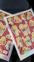 lions theme mixed sheet of peel off stickers 2 sheets ideal cards, papercraft, d