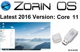 Zorin OS 11 Core  (2016 Version) on 8GB USB: 64 & 32 Bit - $9.44