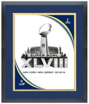"""11"""" x 14"""" Framed & Matted 2014 Super Bowl XLVIII New York/New Jersey 02.... - $43.95"""