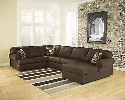 Ashley Cowan Living Room Sectional 3pcs in Cafe Right Facing Contemporary Style