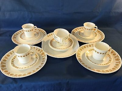 Vintage Corelle Golden Butterfly Dinnerware Set of 15 Corning Serving Platter