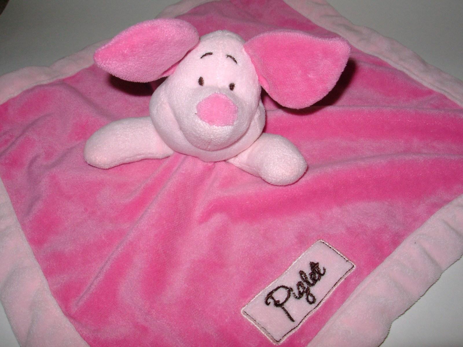 Disney Baby Piglet Security Blanket Blankie Winnie The