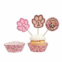 Fun Express - 1st Cheetah Baking Cups W/Picks for Birthday - Party Suppl... - $3.91