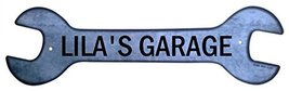 Personalized Metal Wrench Sign - Lila's Garage ... - $16.99