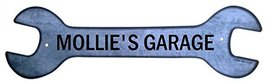 Personalized Metal Wrench Sign - Mollie's Garag... - $16.99