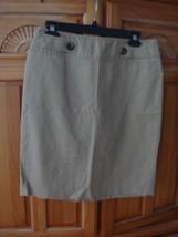 Women's Tan Skirt Size 6 by Ann Taylor Loft - $24.99