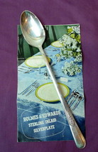 "Holmes Edwards Youth Pattern Tea Spoon Inlaid Silverplate 7 3/4"" - $16.34"