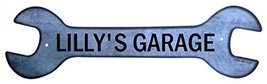 Personalized Metal Wrench Sign - Lilly's Garage... - $16.99