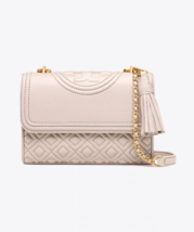 Tory Burch Fleming Small Convertible Shoulder Bag- Birch - $298.00