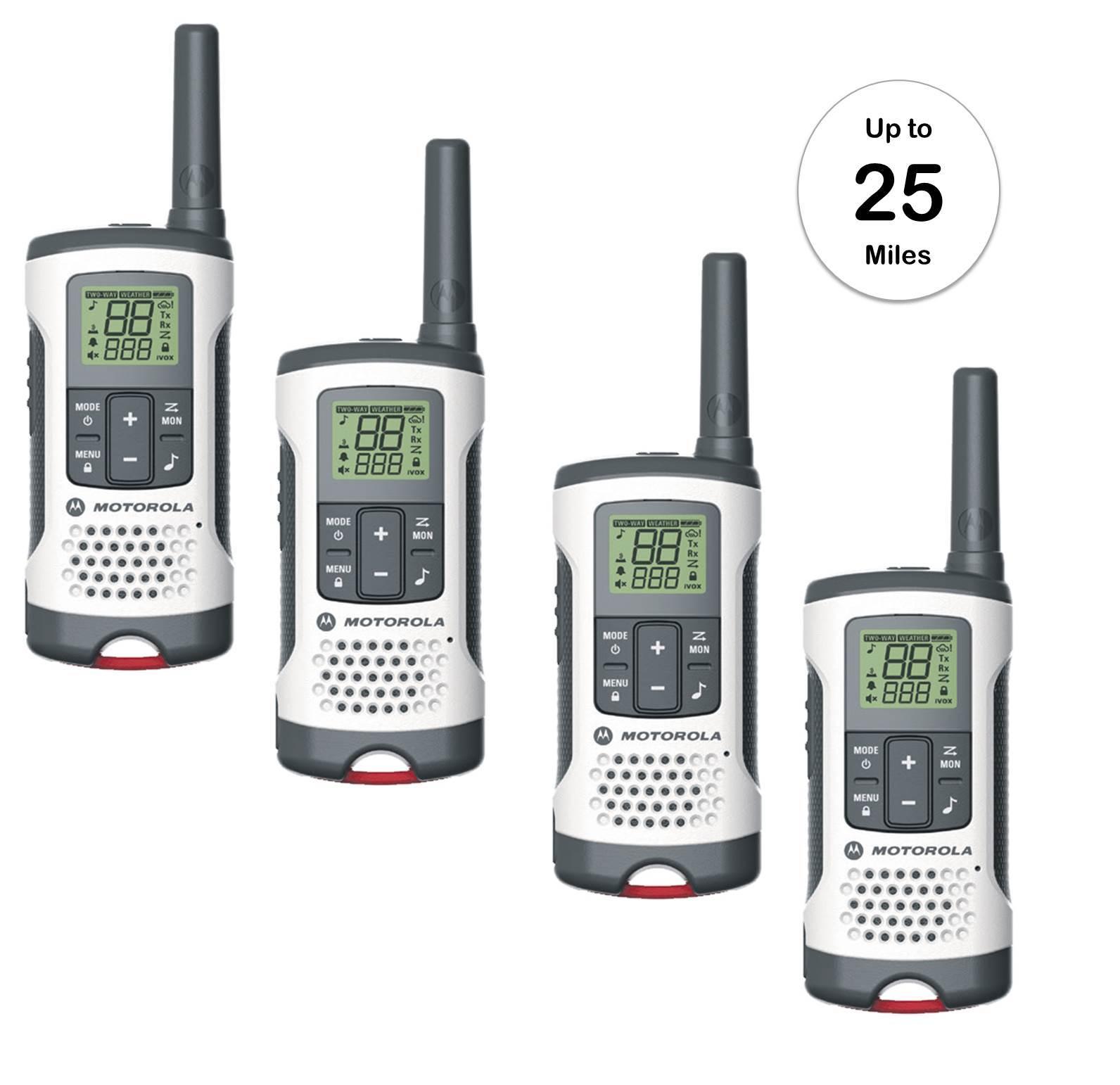 Motorola Walkie Talkie 4 PACK NOAA Weather and 50 similar items