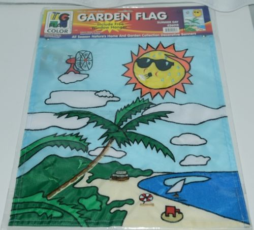 Two Group Flags Co 56018 Summer Day Decorative Garden Window Flag