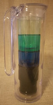 Target Plastic Pitcher & Tumbler Set Clear With Four Colored Cups BPA Fr... - $7.91