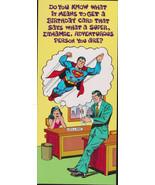 1978 SUPERMAN - CLARK KENT Lois Lane retro  Studio Greeting Card Vintage... - $9.95