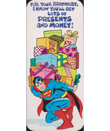 1978 SUPERMAN retro Studio Greeting Card Vintage- Old Stock Unused Super... - $9.95