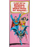 1978 SUPERMAN BATMAN WONDER Woman retro Studio Greeting Card Vintage - c... - $9.95