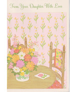from DAUGHTER on  MOTHERS DAY greeting Card Old Stock Unused Vintage 197... - $6.00