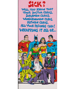 1978 SUPERMAN and Friends GET WELL retro Studio Greeting Card Vintage-Ol... - $9.95