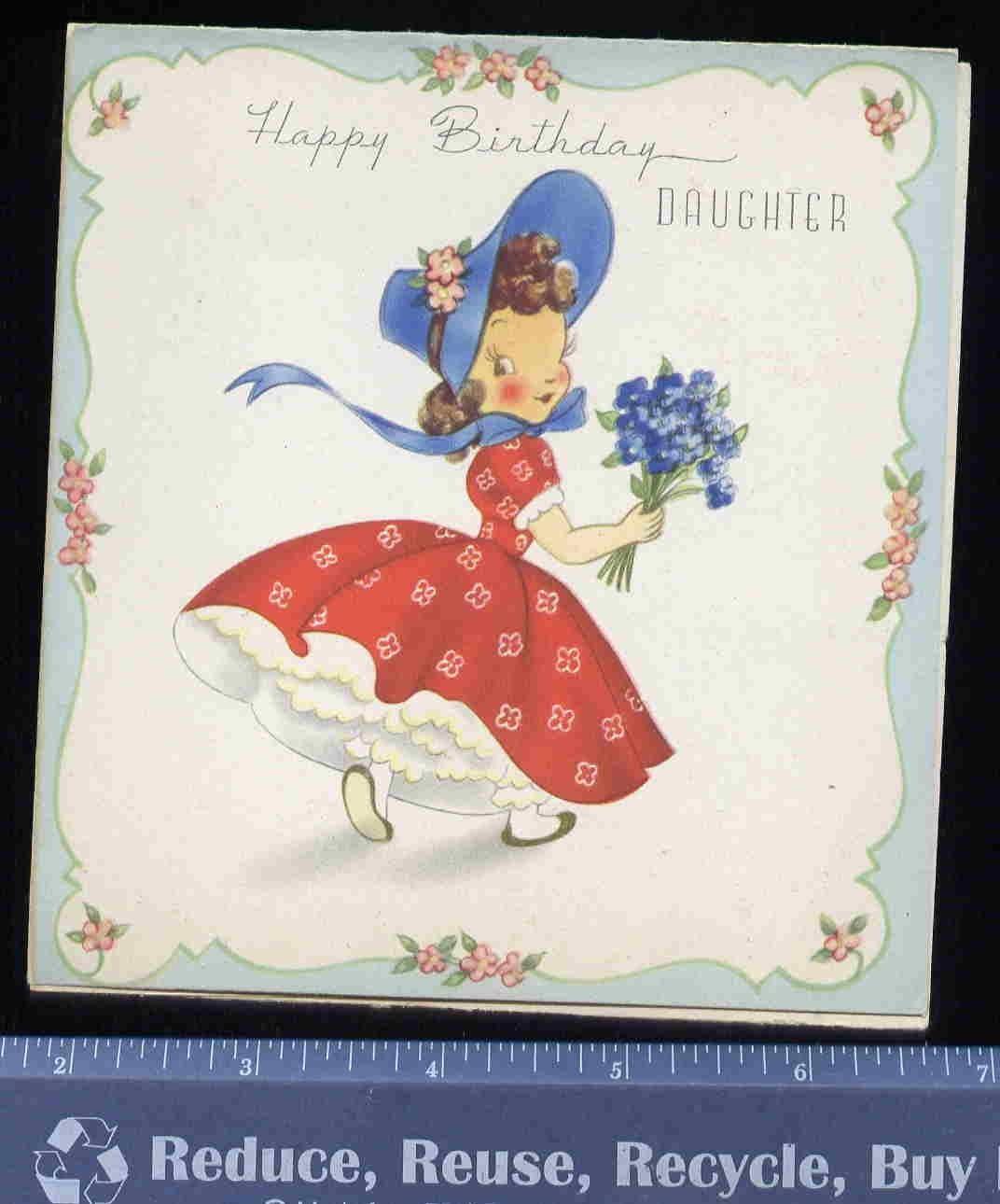 Vintage Bonnet Girl In Petticoats