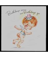 vintage Hot 'n Tot  Happy Birthday Greeting Card, Old Stock Unused Baby ... - $7.00