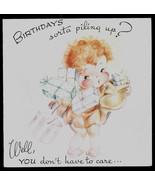 vintage Hot 'n Tot  Happy Birthday Greeting Card, Old Stock Unused Baby ... - $7.45
