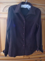 Women's Brown Soft Shirt Size Medium by Notations Stretch - $36.99