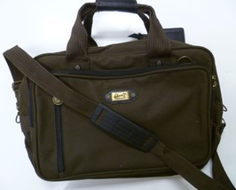 RICARDO BEVERLY HILLS Carry On Luggage LAPTOP OVERNIGHT BAG Brown Messenger - $39.99