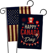 Canada Day Burlap - Impressions Decorative USA Vintage Applique Garden F... - $34.97