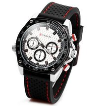 CURREN 8146 Men's Fashionable Water Resistant Wrist Watch with Rubber Band - $19.95