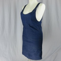 Brickyard Buffalo Denim Taschen Ärmellos Knopf Riemen Overall Kleid M Jeans - $20.77