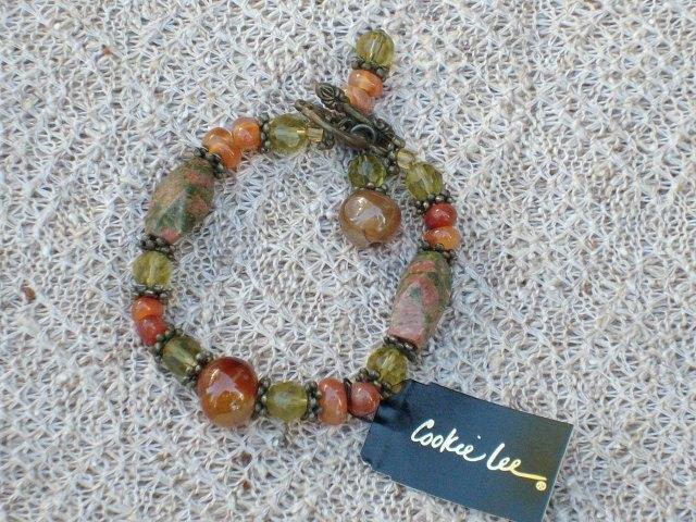 Cookie Lee Semi-Precious Stone Bracelet - Item #89104 - New!
