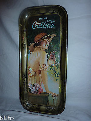 "Primary image for COCA COLA Authentic Tin Tray - ""1916 World War I Girl Elaine"" - Replica 1972"