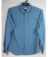 Columbia omni shade sun protection men's long sleeve button front size M/M - $22.78