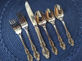 Reed & Barton 1971 English Crown Silverplate 82-pc Set for 12 plus Bonuses - $285.00