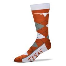 NCAA Texas Longhorns Argyle Unisex Crew Cut Socks - One Size Fits Most - $10.95