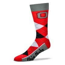 NCAA Ohio State Buckeyes Argyle Unisex Crew Cut Socks - One Size Fits Most - $10.95