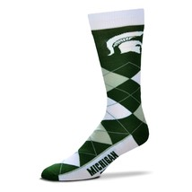 NCAA Michigan State Spartans Argyle Unisex Crew Cut Socks - One Size Fits Most - $9.95