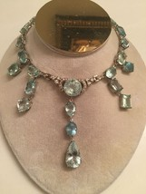 Huge Chistick 149 ct aquamarine diamond 14k gold Platinum necklace choke... - $49,999.99